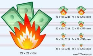 Fire damage Icon by money-icons