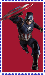 Captain America Stamp. by WOLFBLADE111