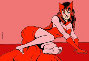 Bootless Scarlet Witch by sandrock74