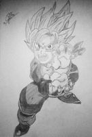 Response to Goten Kamekameha in pencil. by JaymzTheDragon471