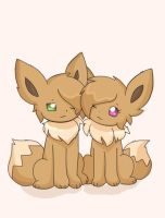 Eevee siblings by AnySketches