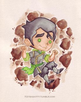 LoK - Bolin watercolour by KeyshaKitty