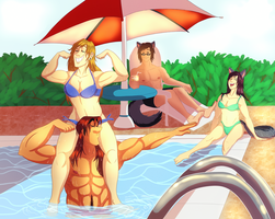 C: Pool Time! by geekgirl8