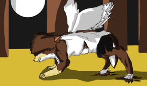 Pit transforming into a werewolf by Whitestar-Lightning