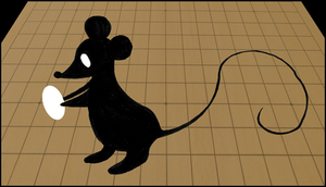 Mouse with go stone by Tamara-Hawk