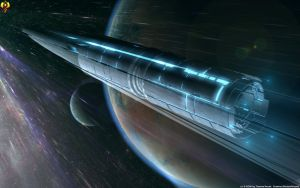 Spacing Guild Foldspace Heighliner by Euderion