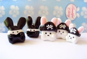 Ninjas vs Pirates.. Bunnies by mAd-ArIsToCrAt