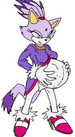 Blaze Pregnant (colored) by Sarah-The-Fox2
