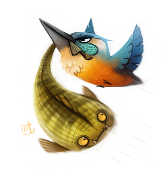 Day 595. Kingfisher by Cryptid-Creations