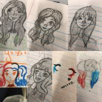 More notebook doodles by GinaTheTaco
