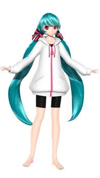 [MMD] PDAFT Interviewer Miku by paprika1423