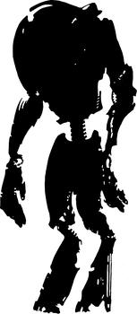 Robot guard silhouette by aDFP