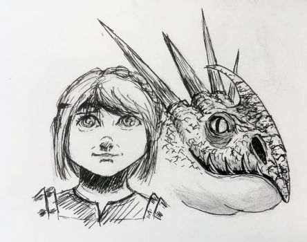 Astrid and Stormfly by BigAlien