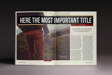 The Outsider Magazine Indesign Template by luuqas