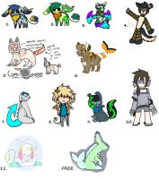 Unused Adopts (OPEN) (1/12) by DesteryZombieBunny