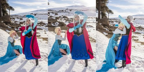 Anna and Elsa - Frozen by MelodyxNya