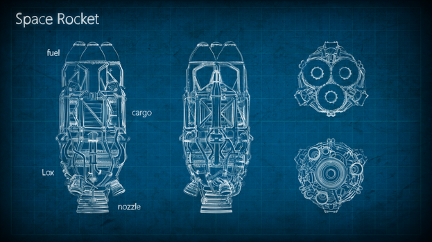 Rocket Blueprint by M0NTEZUMA