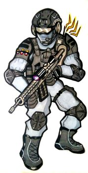 Soldier boi by Inkslicer