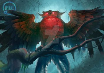 Gobora, The Crystal Owl by scarypet