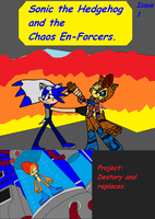 Chaos En-Forcers Comic 1 Cover by Power1x