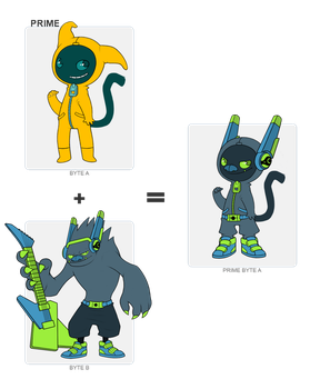 BYTE FUSION  Moonmon+Subwoof by ShellYeah