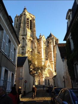Bourges Cathedral in the Evening Sunlight by Hippopottermiss