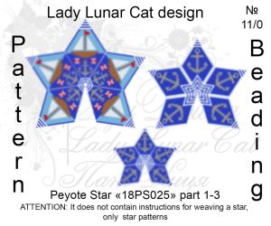 Peyote star 18PS025 part 1-3 by LadyLunarCat
