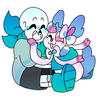 Blueberry and Sylvey by Star-Babu