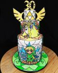 Zelda Stained Glass Chocolate Cake by Kalan