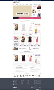 Ecommerce Site design by netpal