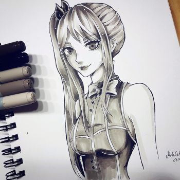 Lucy Heartfilia with Copics by Melo-Cake