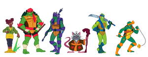 Rise of the TMNT character lineup (VIDEO) by Silver-Monster