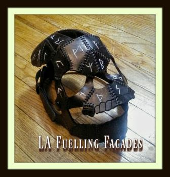 Black Skull with Runes Mask by LAFuellingFacades