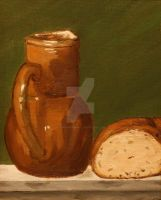 Bread and Water- Still Life1 by JosephJODonnell