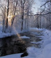 Steam rising from the river by KariLiimatainen