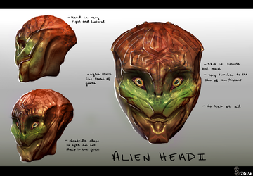 alien head concept II by Shiro-mii