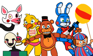 Five Nights at Freddy's 2 by menta-RR-66