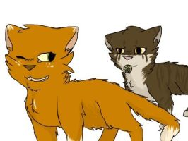 Squirrelflight and Leafpool by x-Beggon