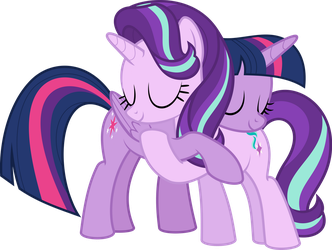 MLP Vector - Twilight and Starlight by jhayarr23