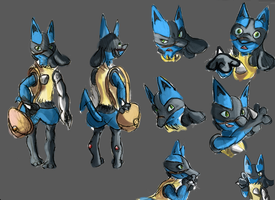 Curio (Lucario) Reference Sheet by StarlightCrux