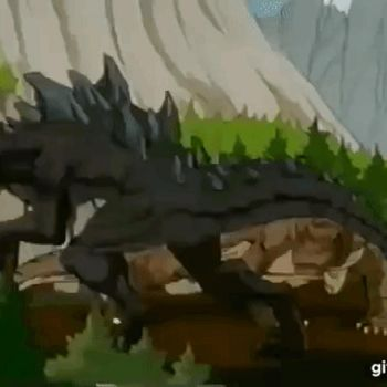 Godzilla The Series: G And K's Mating Dance (GIF) by faithslayer202