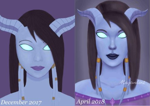 Draenei - before/after by Majalth