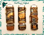 Steampunk USB Drives - Gold and Black w/ Red Gems by TealpandaArtifacts