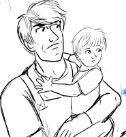 WIP Father and Son.inked by Louvan