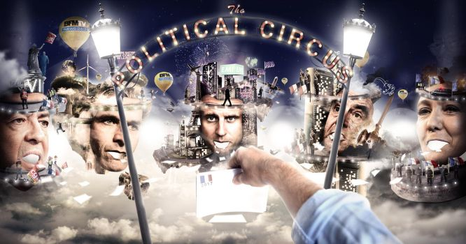 The Political Circus (French Election 2017) by ObscuriaStudio