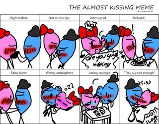 Almost kissing meme (RH and BH) version by Pinkloverchu21