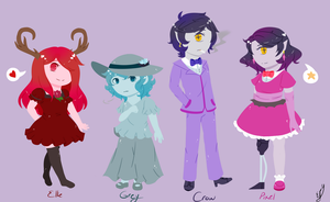 Some Ocs by Colorless-fantasy