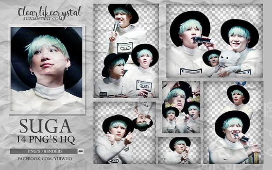 #015 Suga | BTS | Pack Png by clearlikecrystal