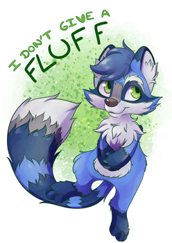 I don't Give a Fluff Racoon by CutePencilCase