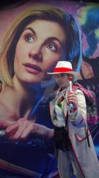 Fifth Doctor meets the Thirteenth Doctor by Londonexpofan